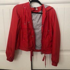 H&M red windbreaker jacket